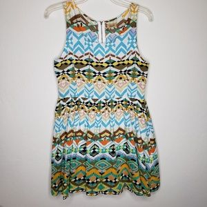 Piko 1988 Boho Festival Sleeveless Skater Dress